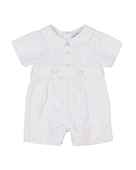 Blue Seersucker Baseball Shortall