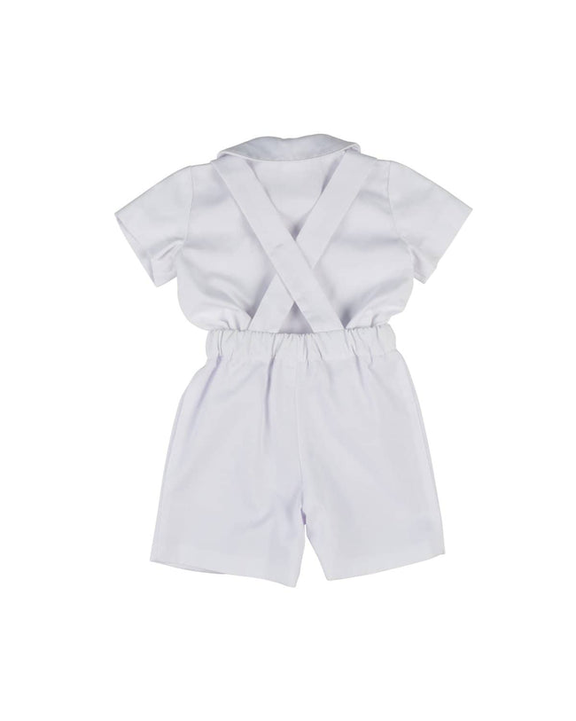 Pique Suspender Short and Shirt Set - Florence Eiseman
