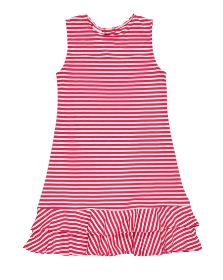 Stripe Knit Dress with Flower Pot Pockets