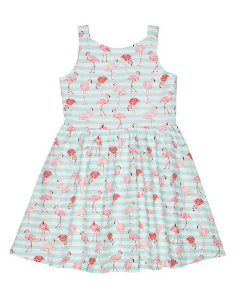 Flamingo Print Dress - Florence Eiseman