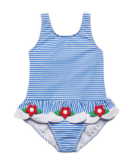 Girls Swimsuit with Flowers