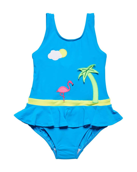 Swimsuit with Flamingo and Palmtree - Florence Eiseman