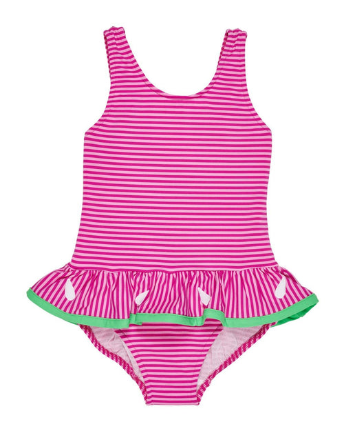 Two Tone Pink Stripe Swimsuit - Florence Eiseman