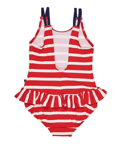 7a52ff2ed2e9b Red and White Stripe Swimsuit with Flowers – Florence Eiseman
