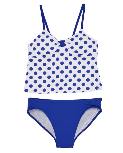 Polka Dot Tankini with Solid Bottoms - Florence Eiseman