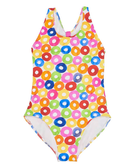Lifesaver Print Tie Front Dress