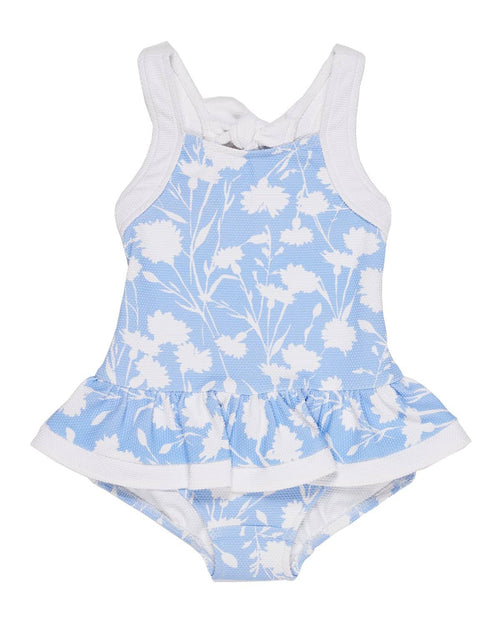 Periwinkle Floral Textured Swimsuit - Florence Eiseman