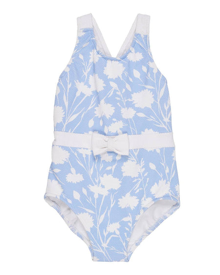 Navy, Medium and Light Blue Tween Swimsuit