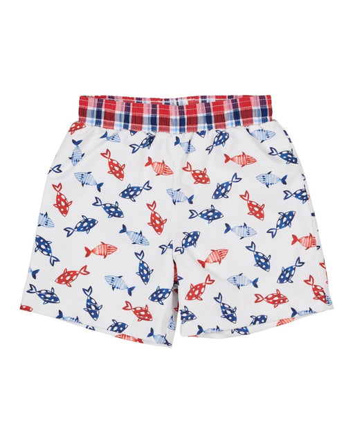 Fish Print Swim Trunks - Florence Eiseman