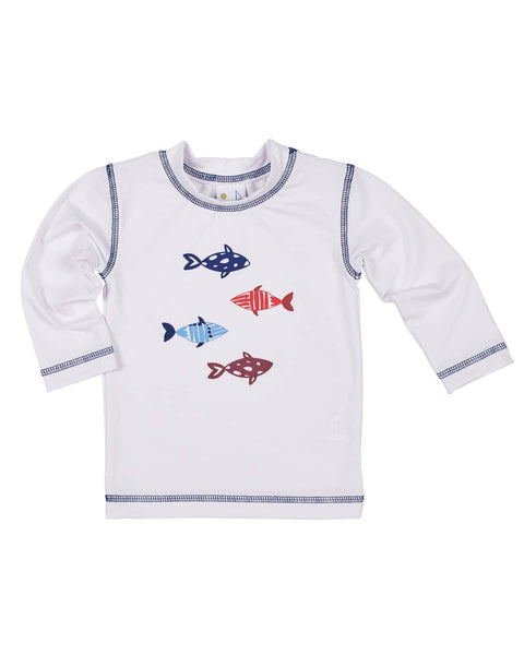 Rash Guard with Screen Printed Fish - Florence Eiseman