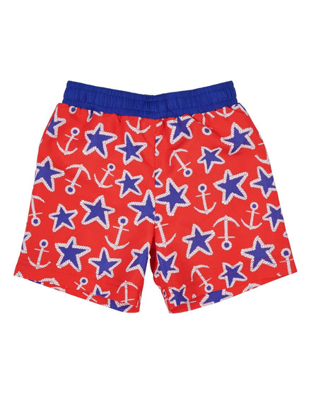 Junior Cord Swim Trunk with Alligator Applique