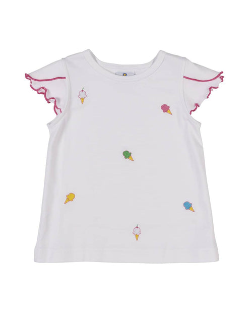 Petal Sleeve Top with Ice Cream Cones - Florence Eiseman