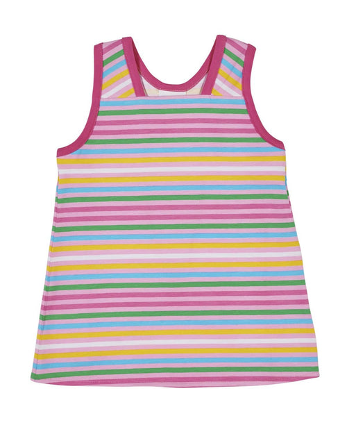Stripe Y Back Tank Top - Florence Eiseman