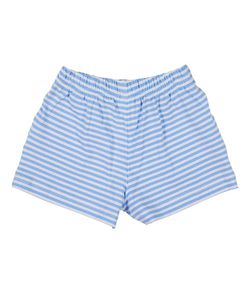 Blue Stripe Shorts with Pineapples - Florence Eiseman