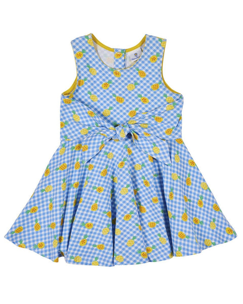 Pineapple Print Circle Skirt Dress - Florence Eiseman