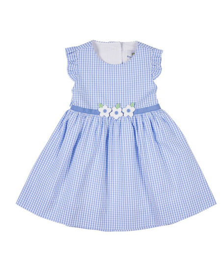 Periwinkle and White Dot Tiered Skirt