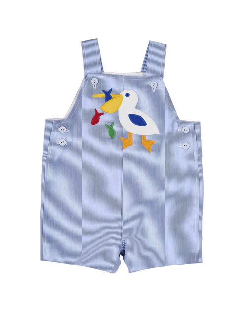 Blue Junior Cord Shortall with Pelican - Florence Eiseman