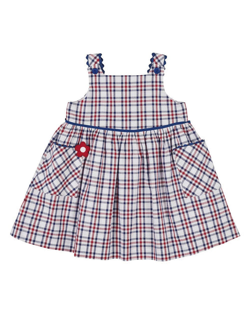 White, Red and Blue Plaid Dress - Florence Eiseman