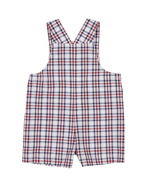 Plaid Shortall with Fish - Florence Eiseman