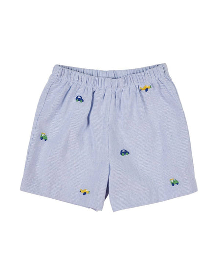 Boys Red Swim Trunks with Anchor Applique