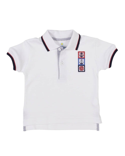 White Polo with Nautical Applique - Florence Eiseman