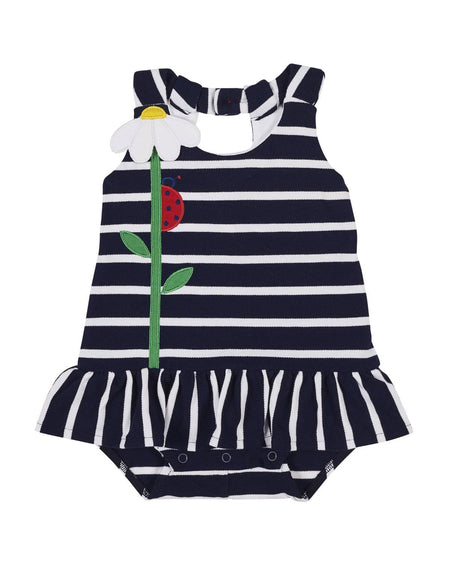 Grey Stripe Onesie Dress