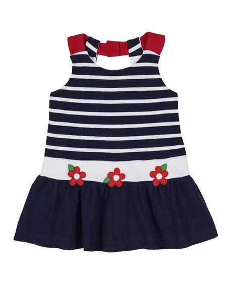 Stripe Dress with Flowers