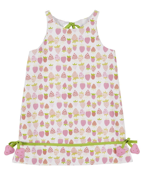 Strawberry Print Pique Dress - Florence Eiseman