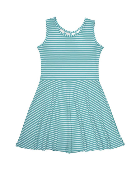 Stripe Knit Dress with Tulip Pocket