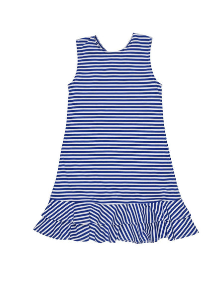 Stripe Knit Dress with Ruffle Straps