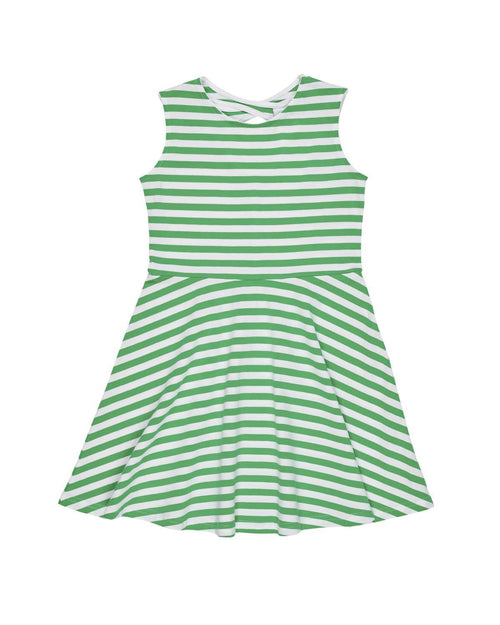 Stripe Knit Dress with Back Keyhole - Florence Eiseman