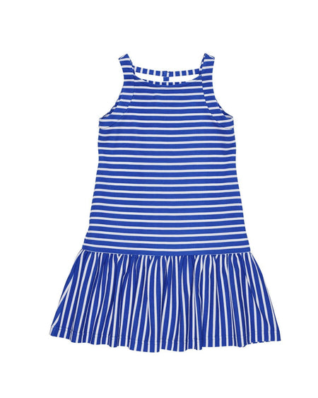 Blue Stripe Dress with Bows