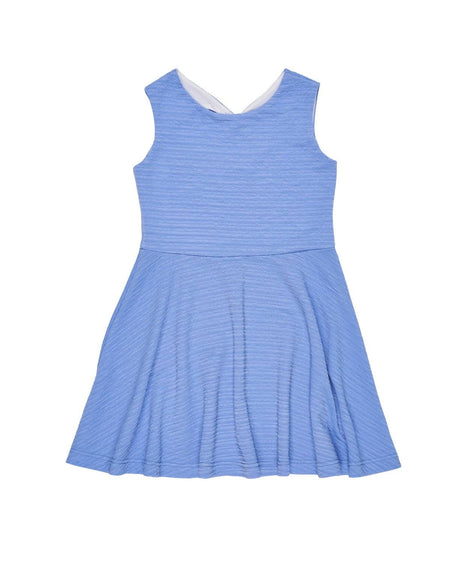 Tween Coral, Navy and White Ponti Knit Dress