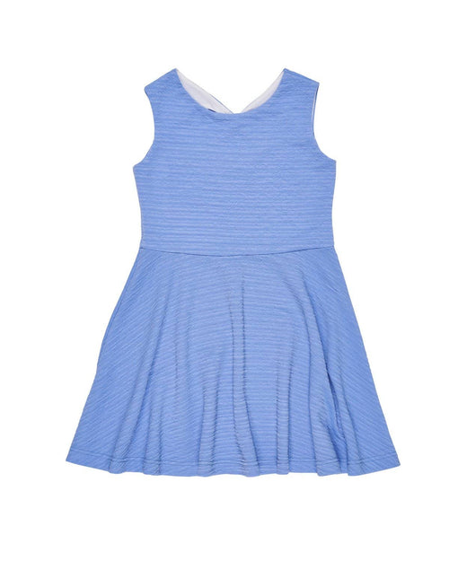 Periwinkle Crinkle Techno Knit Dress - Florence Eiseman