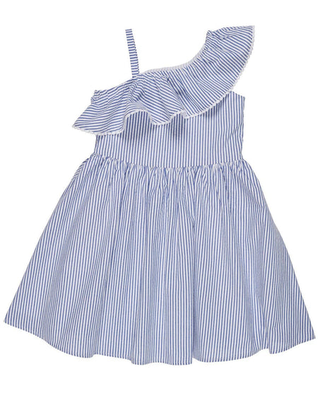 Tween Blue Crinkle Chiffon Tween Dress