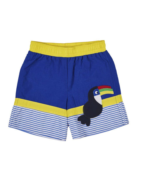 Royal Swim Trunk with Appliqued Toucan - Florence Eiseman