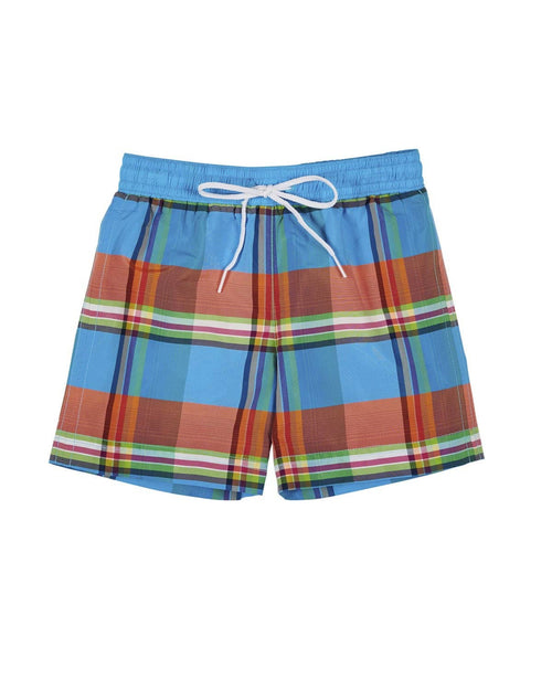 Multi Plaid Swim Trunk - Florence Eiseman