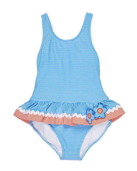 White/Blue Dot Swimsuit
