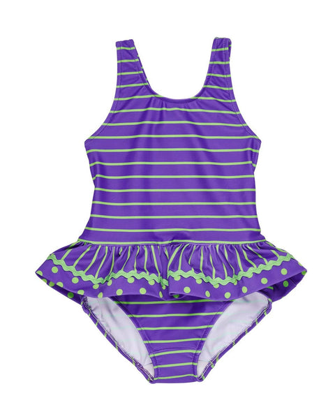 1d10bd54386e7 Purple Lime Stripe and Dot Tank Suit with Ric Rac – Florence Eiseman