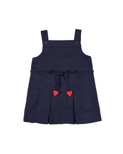 Navy Jumper with Heart and Flower - Florence Eiseman