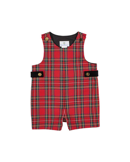 Boys Plaid Fly Front Pant