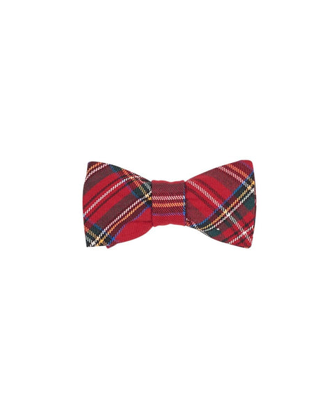 Red Tartan Plaid Bow Tie - Florence Eiseman