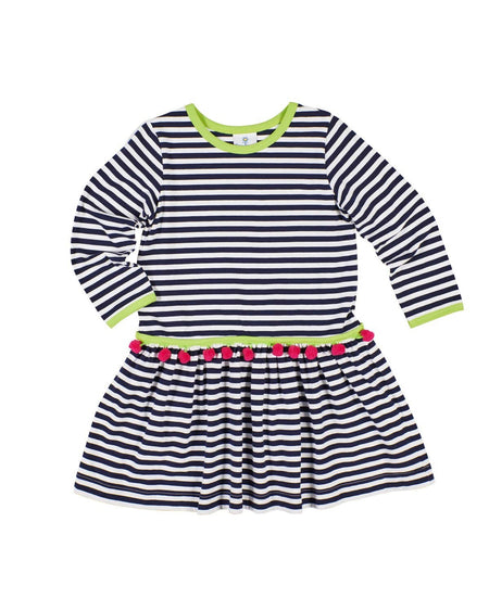 Grey Stripe Girl Knit Dress