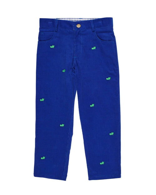 Corduroy Pants with Embroidered Grasshoppers - Florence Eiseman