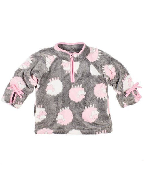Girls Lamb Fleece Top - Florence Eiseman