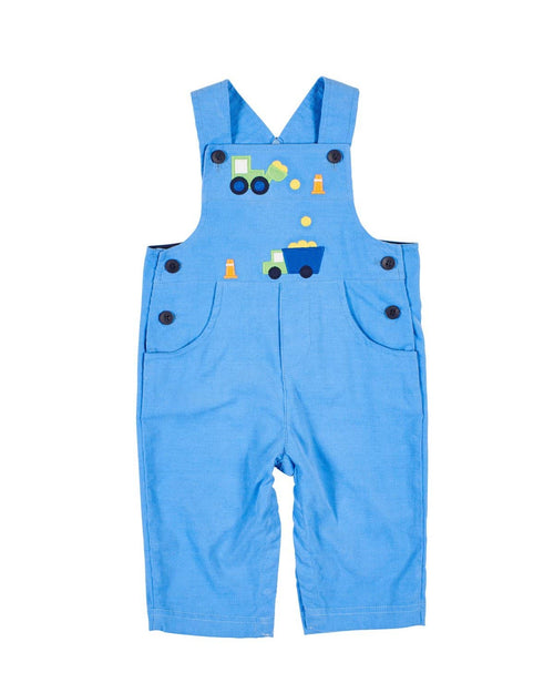 Med Blue Corduroy Construction Zone Longall - Florence Eiseman