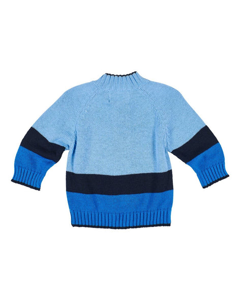 Medium Blue and Navy Dump Truck Sweater - Florence Eiseman