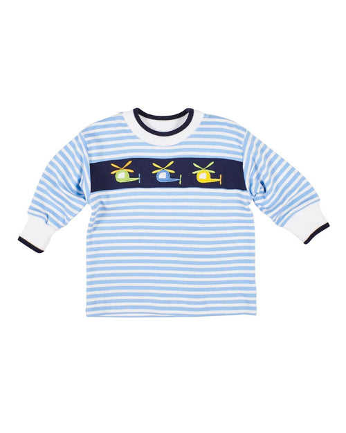 Blue Stripe Knit Helicopter Shirt - Florence Eiseman