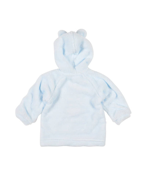 Light Blue Plush Fleece Bear Hoodie - Florence Eiseman