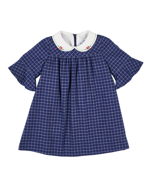 Navy Tattersall Dress for Baby and Toddler Girl - Florence Eiseman